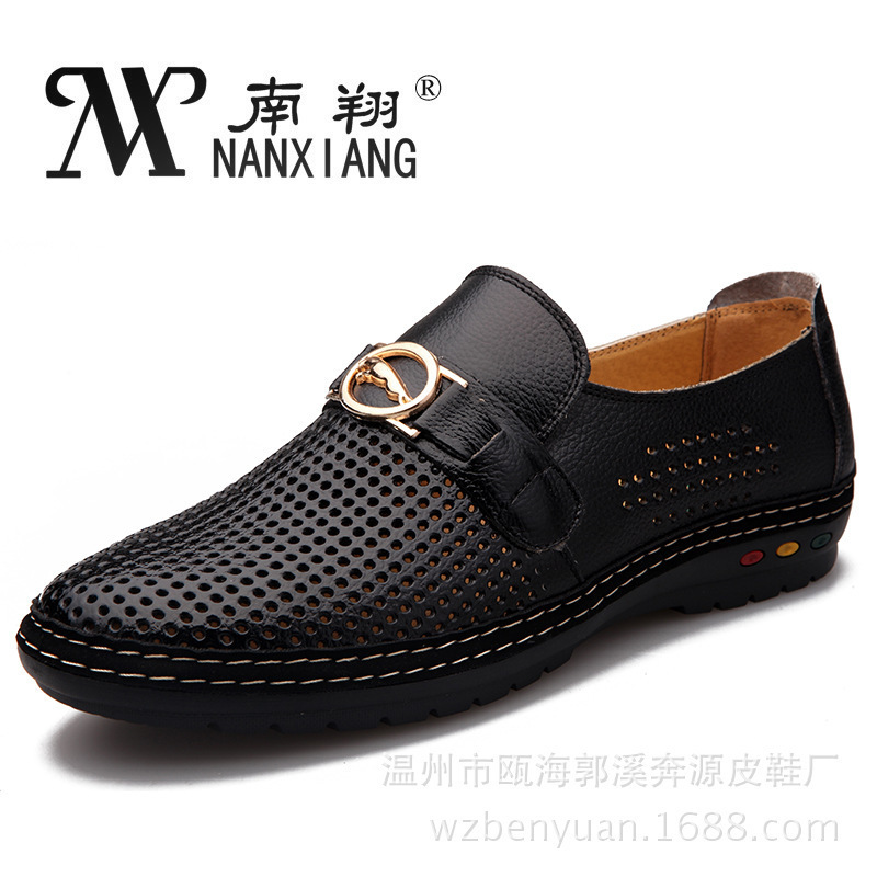 2014 new best quality genuine leather flats casual