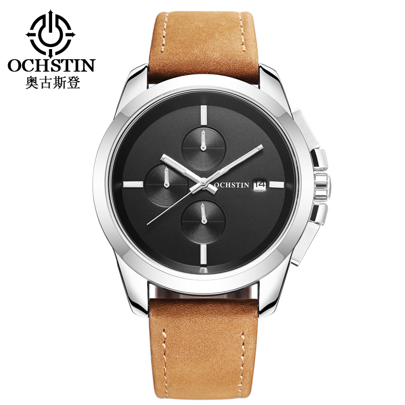 custom made watches promotion shop for promotional custom made 2017 new ochstin watch men top luxury brand hot design military sports wrist watches men quartz wristwatches men leather watch