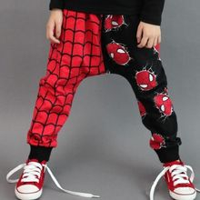 Super Spider-man Design Kids Girls Boys Harem Pants Trouser Clothes 2-7Y UK(China (Mainland))