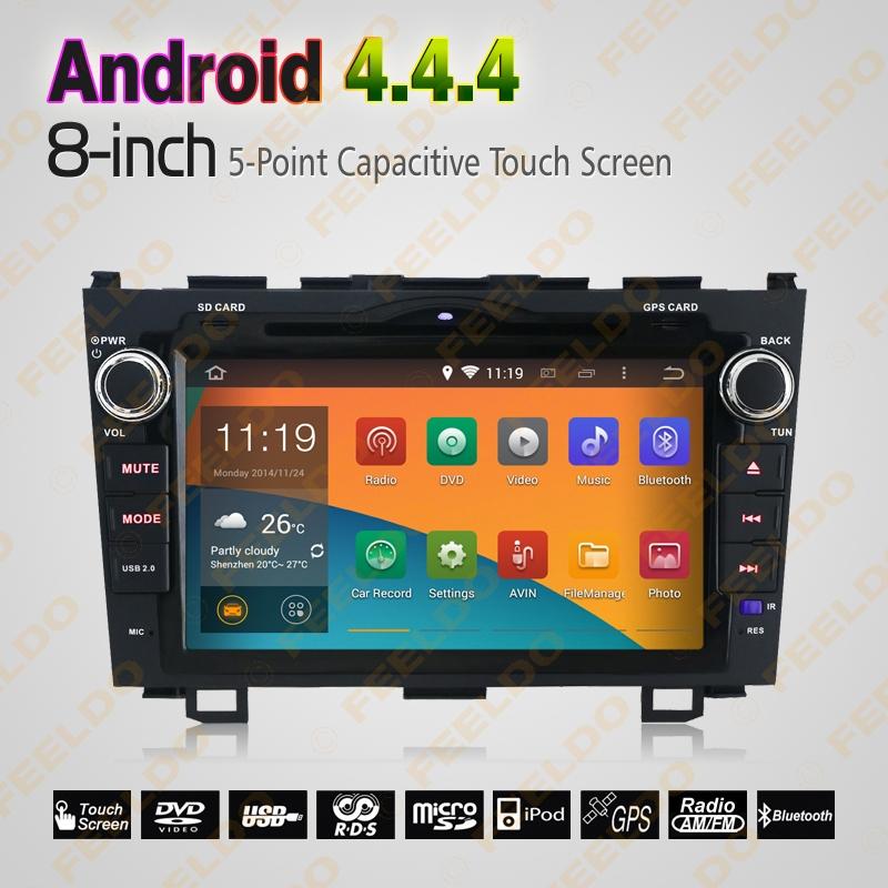 8inch Android 4.4.4 Car DVD Stereo Multimedia Player GPS Nav/WIFI/3G/TouchScreen/BT/Radio/OBD/DVR/RDS Honda CRV (2007~2011) - FEELDO store