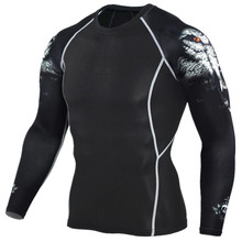 Buy 2016 Mens MMA Fitness T Shirts Fashion 3D Teen Wolf Long Sleeve Palace Compression Shirt Bodybuilding Crossfit Brand Clothing for $7.64 in AliExpress store