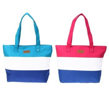 2016 Women Ladies Stripes Canvas Shoulder Bag New Hot Messenger Bag Summer Beach Handbag Bags Brand Totes Bolsa Feminina
