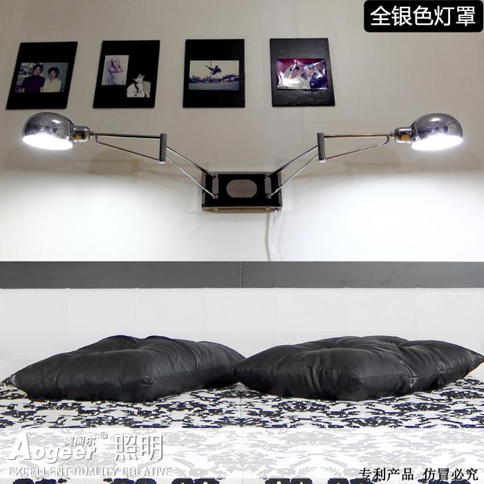 Hanging Reading Light: Led Wall Lamp Modern Minimalist Bedroom Bedside Lamp
