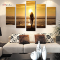 5PCS Frameless Figure Abstract Oil Painting Printed Painting On Canvas Art Pictures For Home Wall Decoration
