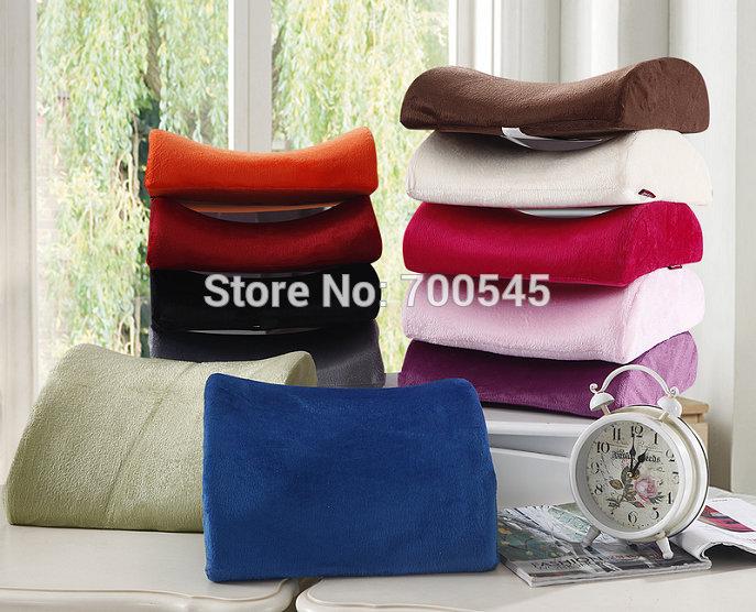 Velvet Memory Foam Lumbar Back Support Cushion Pillow Car Auto Home Office Seat Chair 11 colors choose - Arrow Man Textile store