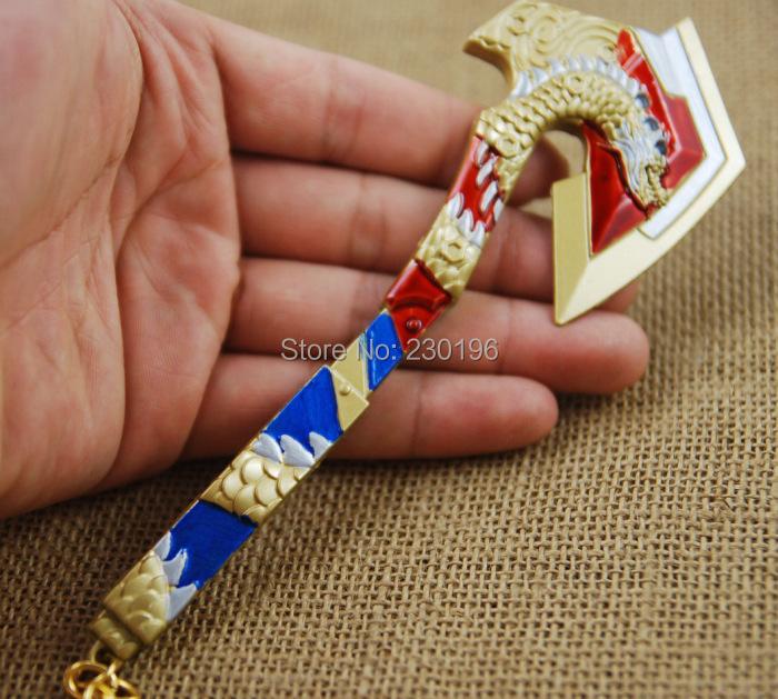 Korea Game Cross Fire CF Axe Model Keychains Metal 16.5cm Trendy Free Shipping<br>