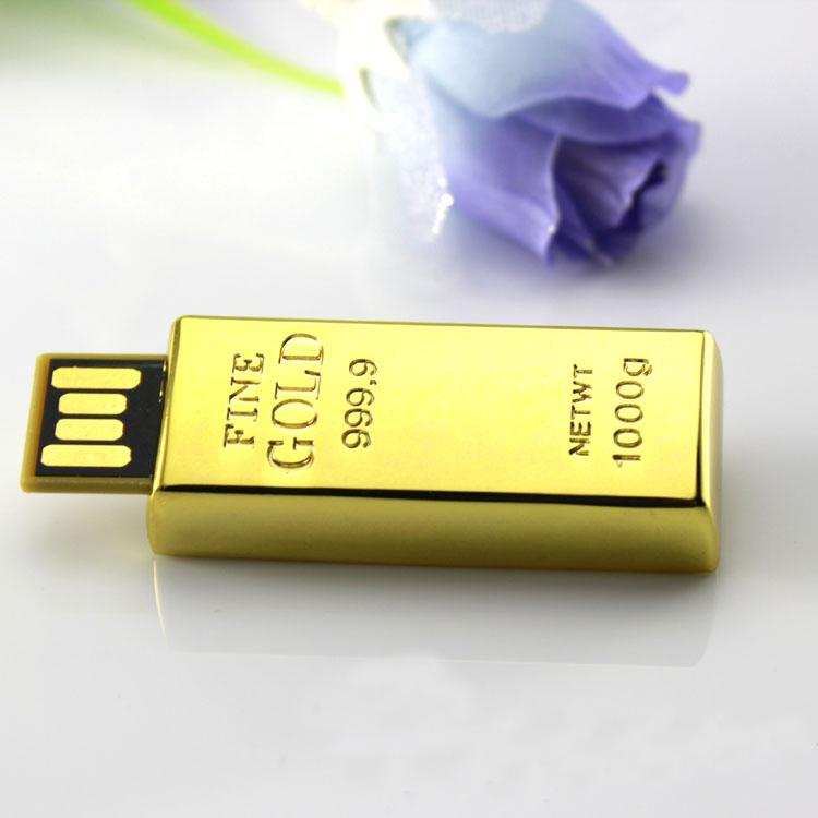 Full Capacity Waterproof Gold Bar USB Flash Pen Drive 512GB 2.0 Memory Stick 16GB 32GB 64GB Pendrive 128GB 256GB Gift Gifts(China (Mainland))