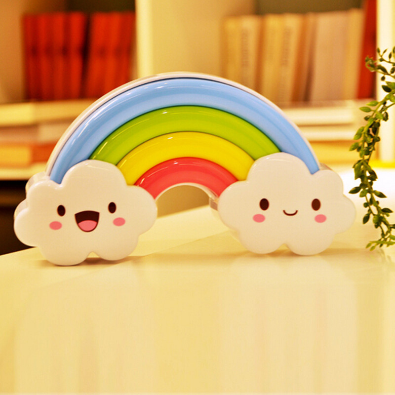 Cute Wall Sticker Rainbow Battery LED Night Light with Light Voice  Sensor Switch Baby Bedroom Table. stickers leopard Picture   More Detailed Picture about Cute Wall