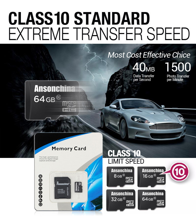 100% Real capacity TF Card Micro Sd Card SD C10 Class 10 Memory Card Cards Cartao Memoria, Mini Sd Flesh 64gb 32GB 16GB 8GB(China (Mainland))