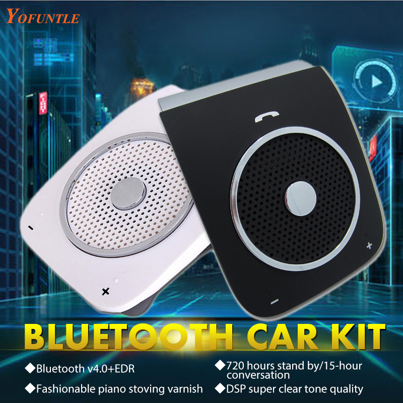 Wireless Manos Libres Bluetooth Car Kit Hands Free Speaker Car Bluetooth Handsfree Kits Speakerphone with USB Car Charger YFT004(China (Mainland))