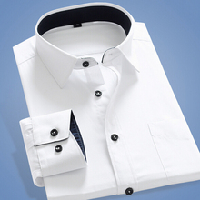 Buy 2017 New Arrival Summer Style Men Solid Formal Dress Shirt Mens Long Sleeve Slim Fit Shirts Camisas Masculina Plus Size S-5XL for $31.98 in AliExpress store