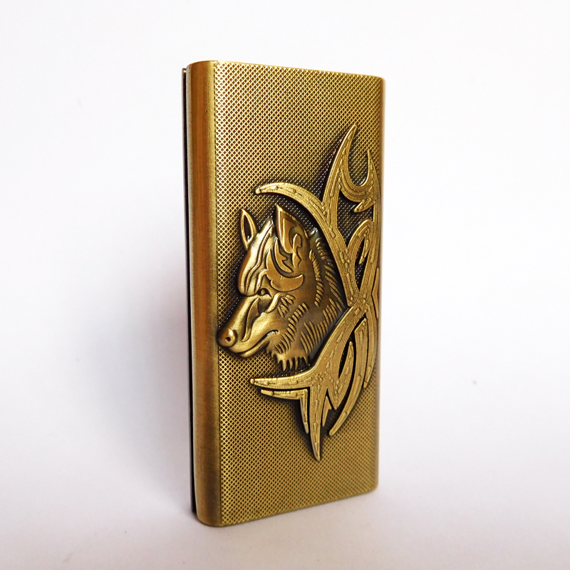 Novelty Gadgets Windproof Flame Torch Lighter,Embossed Wolf Metal Cigarette Lighter,Refillable Gas Jet Lighter(China (Mainland))