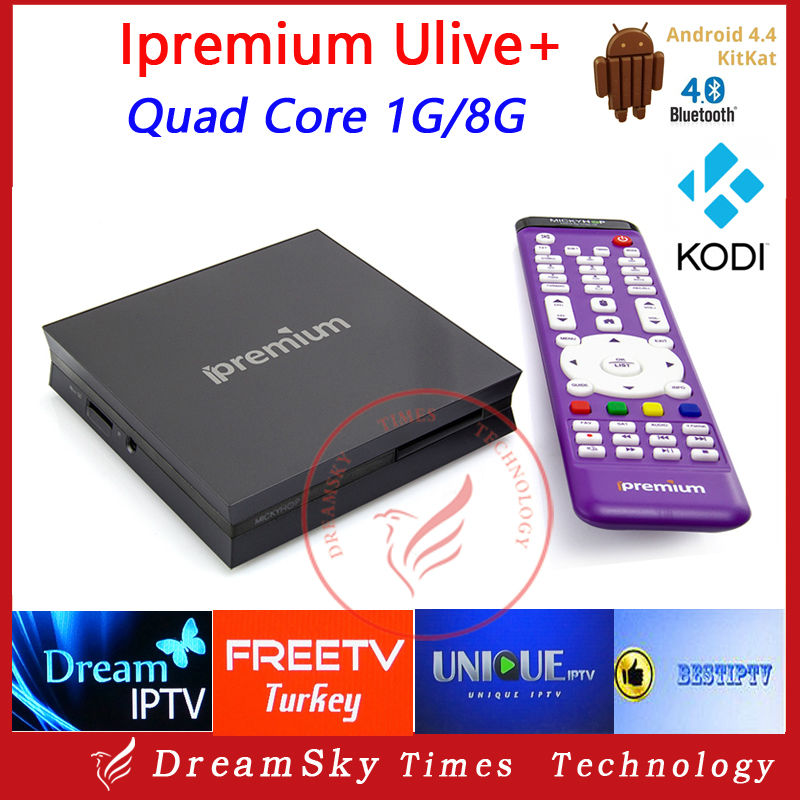 Ipremium ulive+ Surprise Newest Design Full Closed Android 4.4 OS Quad Core Amlogic S805 TV Box with Mickyhop Market(China (Mainland))