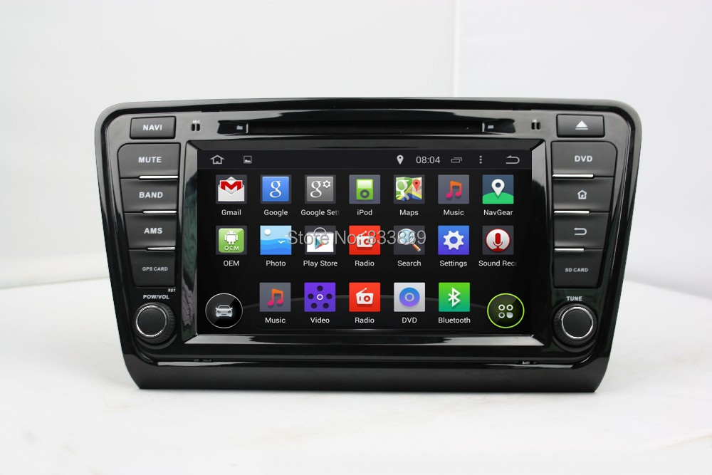 "1024*600 Android 4.4 HD 1 din 8"" Car PC Radio DVD for Skoda Octavia 2014 2015 With GPS 3G/WIFI Bluetooth IPOD TV USB AUX IN(China (Mainland))"