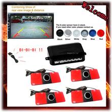 Car Video Parking Sensor Reverse Backup Assistance Radar image all-in-one System + 16mm Flat Sensors 7 Colors