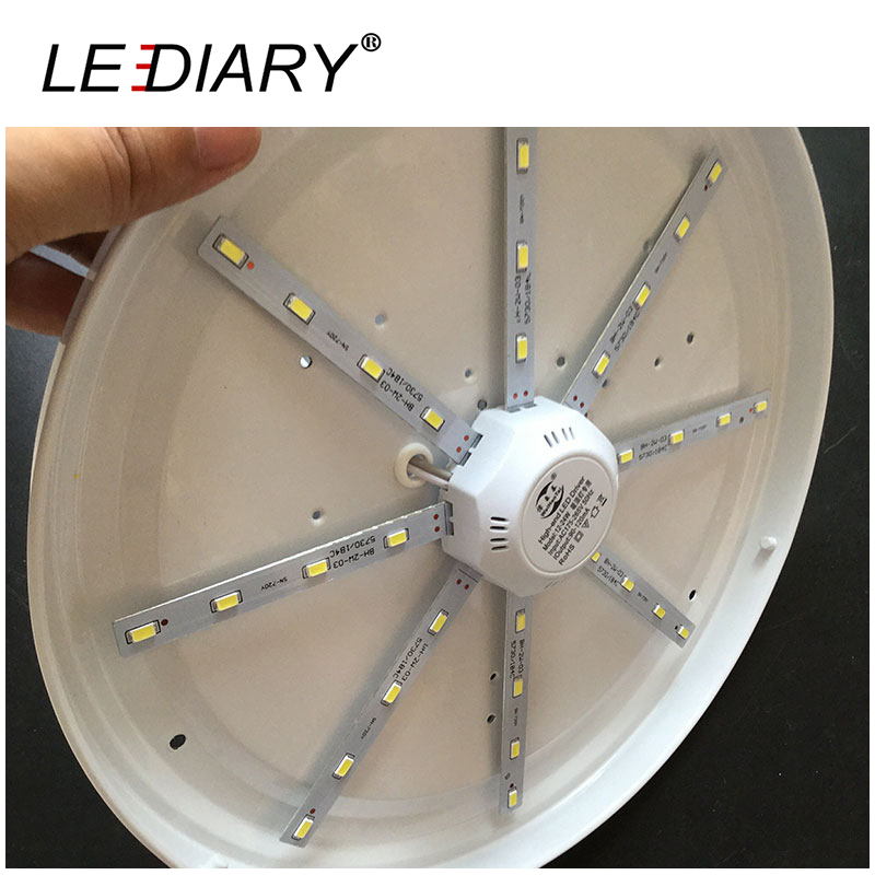 5Piece/Lot 2D Replaceable LED Light Source For Ceiling/Kitchen Lamp 12-24W With Magnet Led Lights Replacement PCB With Driver(China (Mainland))