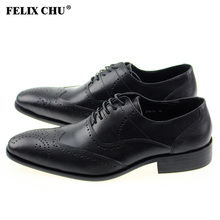 FELIX CHU 2016 European Popular Fashion Genuine Leather Black Lace-Up Oxford Dress Shoes For Mens Party Wedding Office 218-12(China (Mainland))