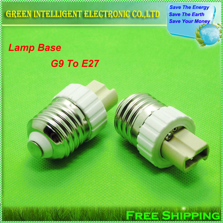 LED Lamp Base G9 to E27 LED Bulb E27 Socket Adapter Home Lighting Bulb Holder,1pcs/lot(China (Mainland))