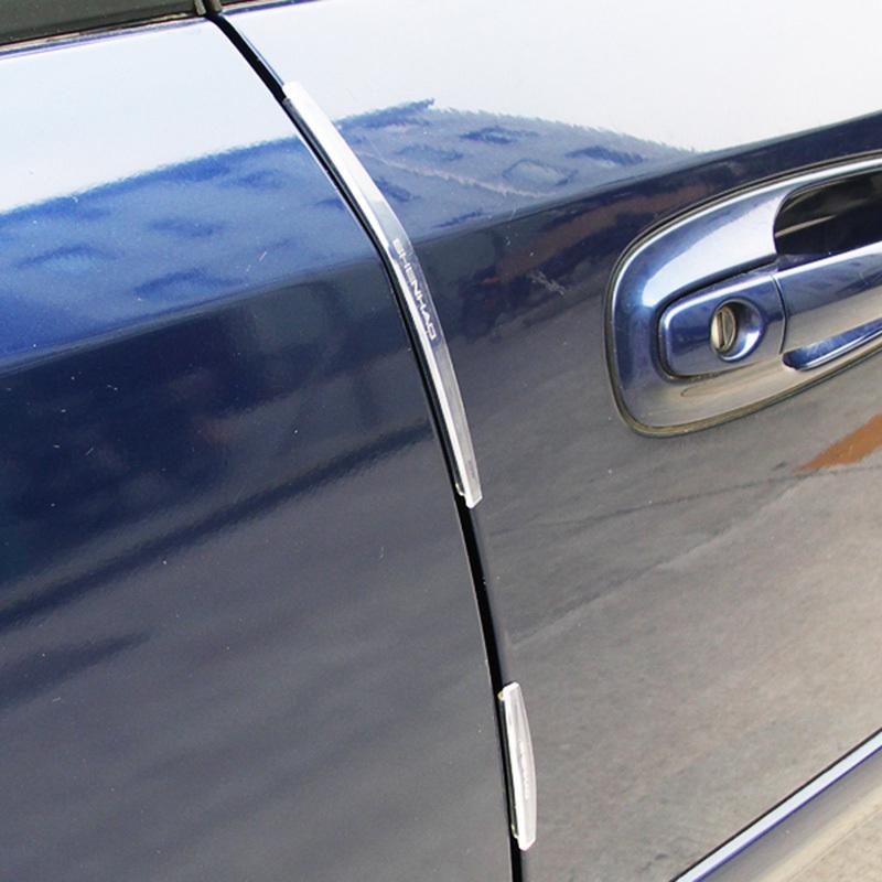 Practical 8pcs/set Rubber Car Door Edge Guards Trim Molding Protection Strip Scratch Protector Set #58078(China (Mainland))
