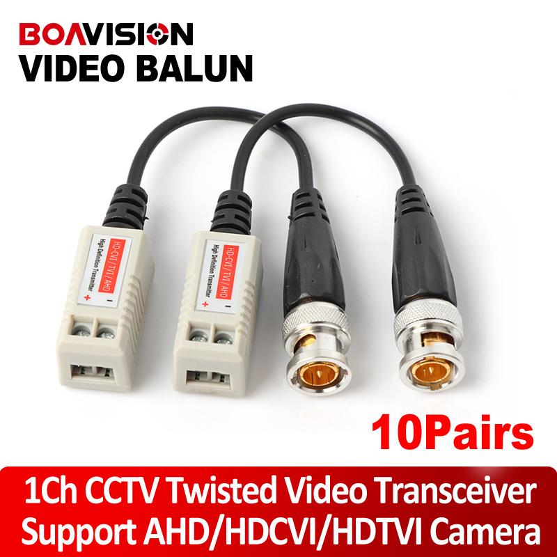 10Pairs Twisted BNC CCTV Passive Transceivers Cat5 CCTV UTP Video Balun For 720P AHD & HDCVI & TVI Camera Upto 660ft(200m) Range(China (Mainland))