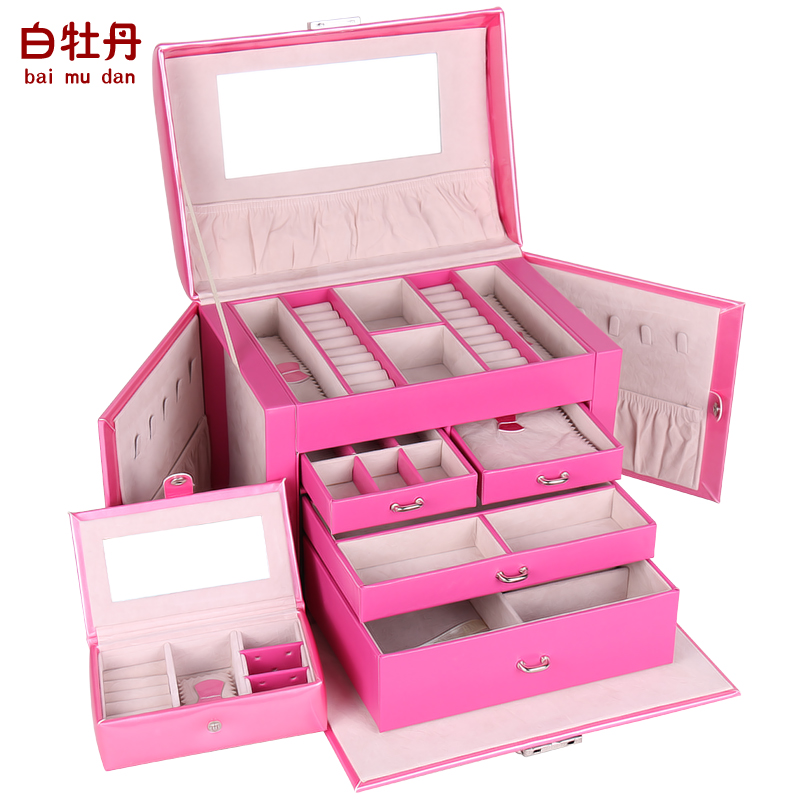 Shop popular girls jewellery box from china aliexpress for Girls large jewelry box