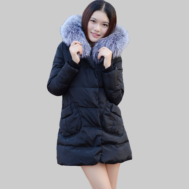 2016 New Down Jacket Female Korean Long Section Thick Winter Coat Fox Fur Collar W0211Одежда и ак�е��уары<br><br><br>Aliexpress