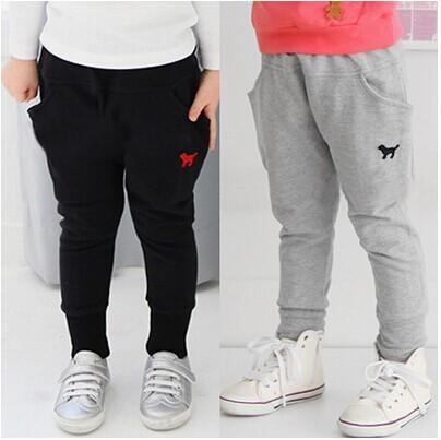 2014 qiu dong han edition new cartoon; male female children's wear long pants trousers breeches - balabala11 store