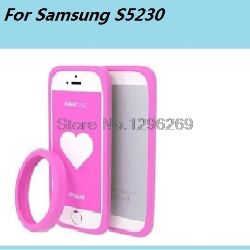 new Fashion multicolor Universal Style Phone Cases Cover Ultra Soft Slim Silicon For Samsung S5230 Case(China (Mainland))