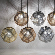 Stylish simplicity Light Shadow Multi-faceted ball Stainless steel Metal  Tom Dixon Etch Pendant light(China (Mainland))