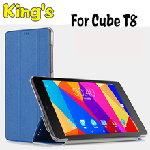 Free shipping PU Leather Case for 8 Inch CUBE T8 t8s t8 plus tablet pc, High-quality For CUBE T8 case, CUBE t8 cover case