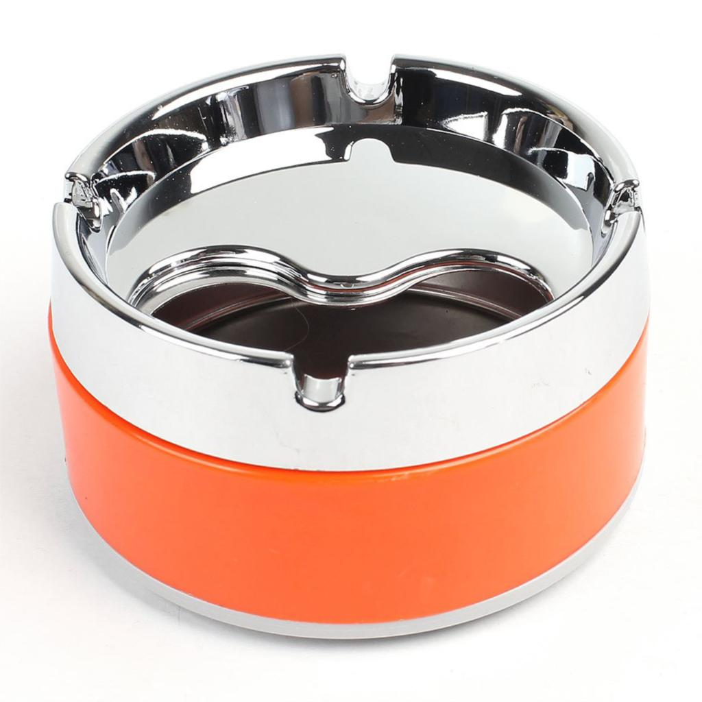 "SZS Hot Silver Tone Orange Detachable Rotatable Lid Cigarette Smoking Ashtray 3.3""(China (Mainland))"