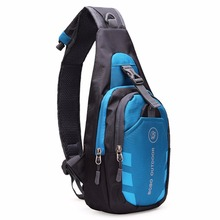 4 Colors Men Women Waterproof Sport Casual Running Outdoor Cross Body Bags Nylon Chest Pouch Bag Shoulder Sling New High Quality