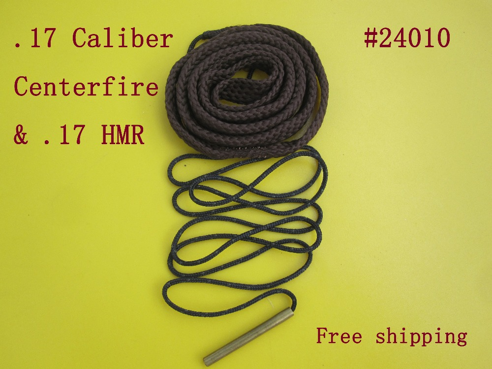 Free shipping Cleaning 24010 17 cal Centerfire 17 HMR Rifle Snake Guns Sling Cleaner Tactical Hunting