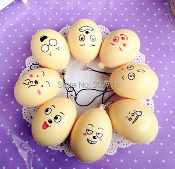 25pc Cartoon Funny Soft Emotional Face Egg Squishy Phone Charm/Free Shipping