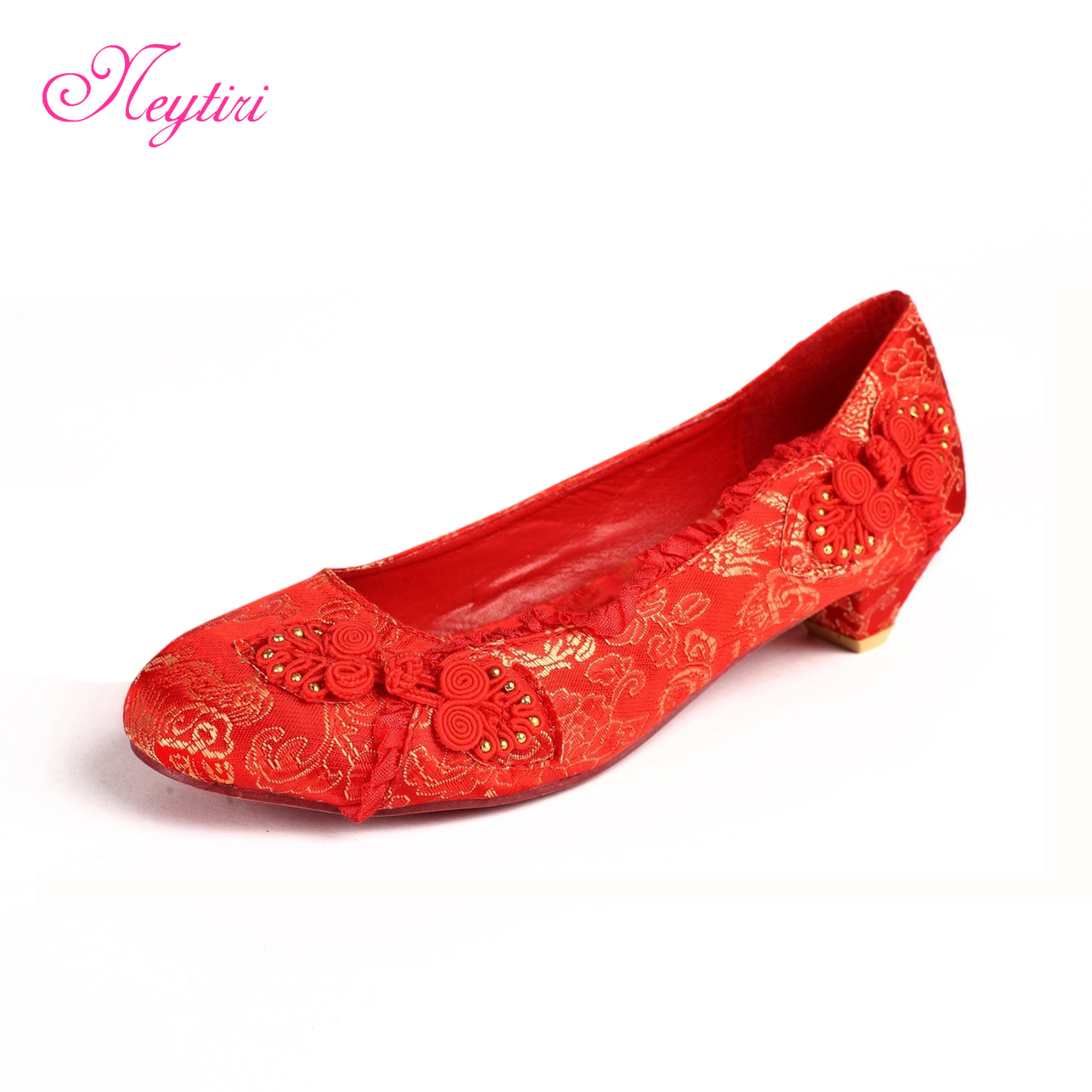 Red Shoes Small Heel