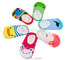 Cute Unisex Socks Baby Kids Toddler Girl Boy Anti-Slip Shoes Slipper 6-24 Months