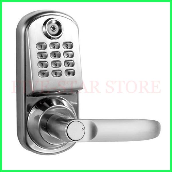 new design deadbolt home secure door lock electronic code lock TM1990A card and password keypad door handle lock +5pcs TM cards(China (Mainland))