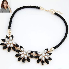 Buy Vintage Brand Women Collar clavicle Chain Choker Bib Statement Necklace Weave Link Crystal Flower Necklace&Pendant Jewelry for $1.66 in AliExpress store