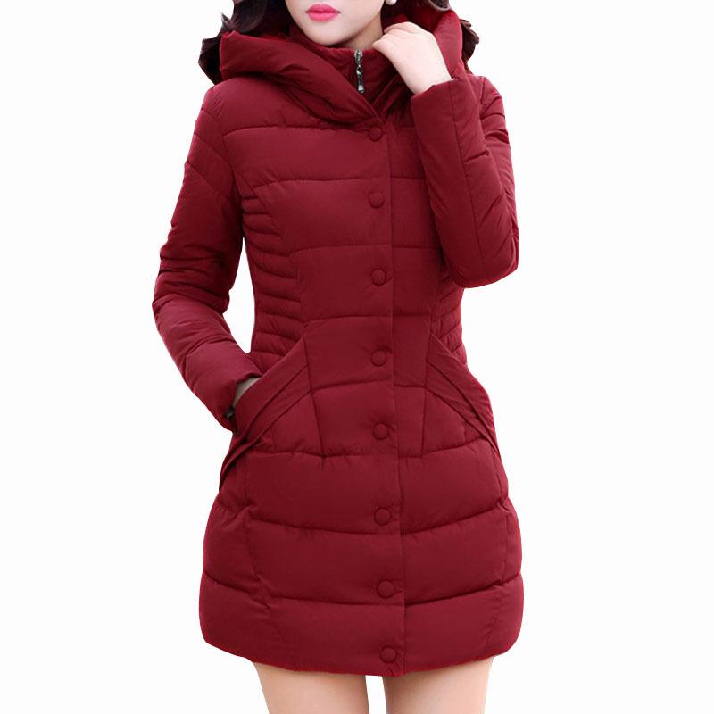 Aliexpress.com Comprar Para Mujer Chaquetas de Invierno y Abrigos bolsillos con capucha otoño delgada larga chaqueta Parkas Abrigos y Chaquetas Mujer