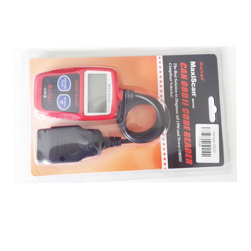 OBD TOOL New Autel MaxiScan MS309 CAN OBDII OBD2 EOBD Vehicle Scan MS 309 Car Bus Diagnostic Code Reader Tool Free Shipping(China (Mainland))