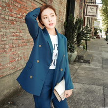 2016 Fashion Slim Business Wear Elegant Women Office OL Jacket Set Formal Blazer + Pants Suit Feminino Female