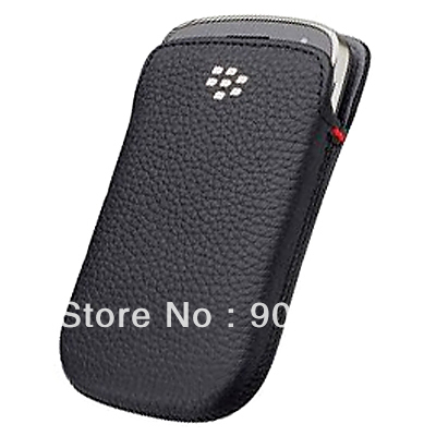 New Leather Case Pouch for Blackberry BOLD TOUCH 9900 9930 Black 10PCS /LOT(China (Mainland))