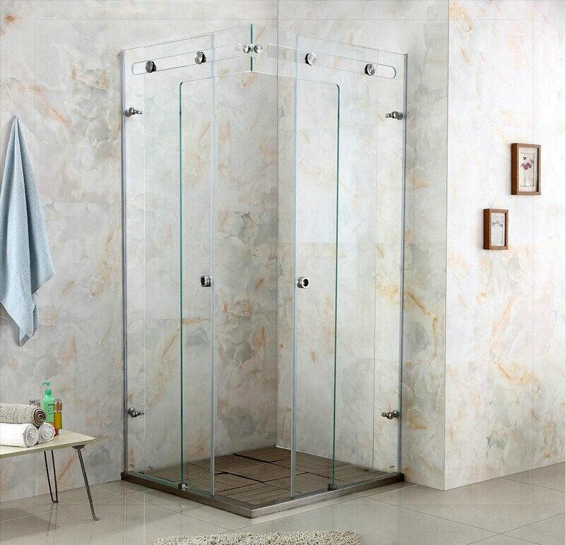 Luxury crystal glass shower room shower cabin shower glass door shower enclosure customize size sink bath room gold(China (Mainland))