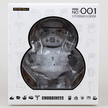 Original Anime Star wars The Stormrooper Chubbiness 16*14*10.5 cm Boxed PVC Action Model Figure toy