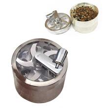 DU# 4 Part Aluminium Herb Tobacco Weed Grass Grinder Crusher Mill Pollinator Free Shipping(China (Mainland))