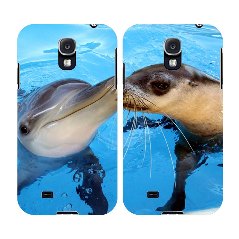 Kiss Phone Case Funny Dolphin Baby Seal Cover Hard UV Print Design Case for Samsung Galaxy S5 i9600 Best Accessories Cover(China (Mainland))