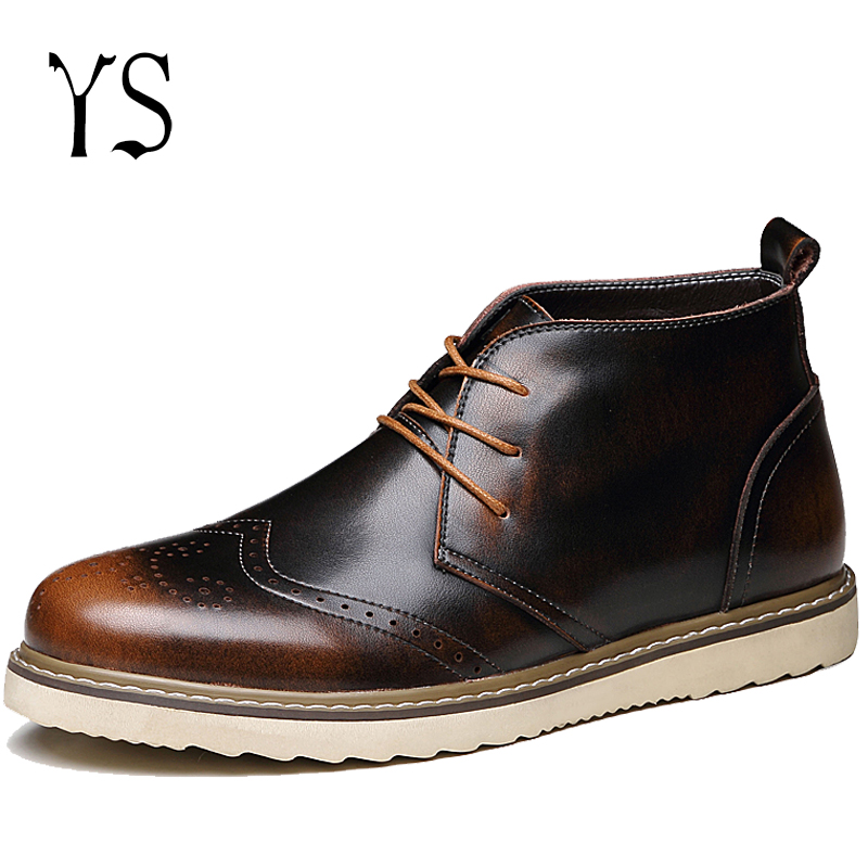Y-s 2016 Mens Full Grain Desert Boots Mans Genuine Leather Chukk Men Vintage Comfort Shoes Adults Ankle Slip On Boots y-130<br><br>Aliexpress