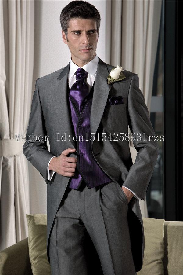 Dark Grey Wedding Suit Dress Yy