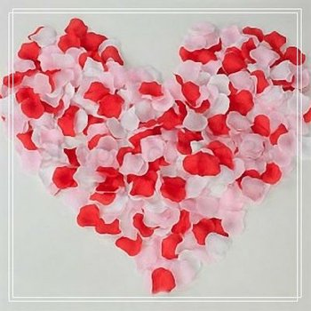 12 Packs/Lot Free Shipping Wholesale Wedding Decoration Supplies Pink White & Red Silk Colorful Rose Petals Table Decor