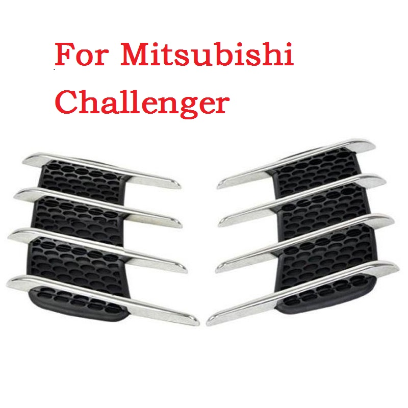 Shark gills outlet decoration side draught hood vents air intake engine cover modified sticker For Mitsubishi Challenger(China (Mainland))